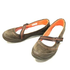 Clark's Mary Jane Flats Brown Leather size 7.5